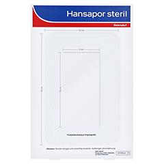 HANSAPOR steril Wundverband 10x15 cm 3 Stück - Rückseite