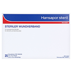 HANSAPOR steril Wundverband 10x15 cm 25 Stück - Vorderseite