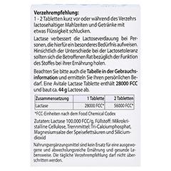 Lactase 28.000 FCC Tabletten im Spender 80 Stück - Rückseite