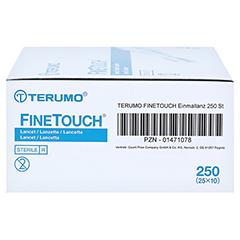 TERUMO FineTouch Einmallanzetten CPC 250 Stück - Linke Seite