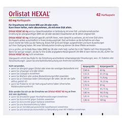 Orlistat HEXAL 60mg 42 Stück - Rückseite