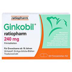 GINKOBIL ratiopharm 240mg 60 Stück N2 - Vorderseite