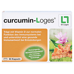 CURCUMIN-Loges Kapseln 60 Stück - Vorderseite