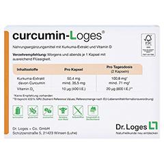 CURCUMIN-Loges Kapseln 60 Stück - Rückseite