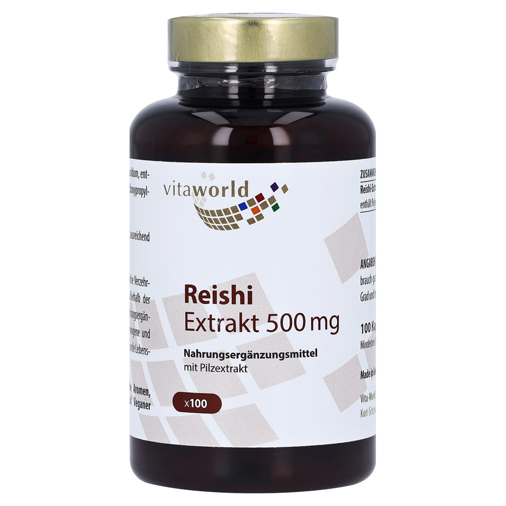reishi extrakt 500 mg kapseln 100 st ck online bestellen medpex versandapotheke. Black Bedroom Furniture Sets. Home Design Ideas