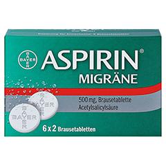 Aspirin Migräne 12 Stück - Vorderseite