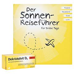 Dekristolvit D3 5.600 I.E. Tabletten + gratis Dekristolvit Sonnenreiseführer 60 Stück - Vorderseite