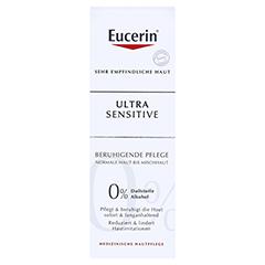 Eucerin UltraSensitive Beruhigende Pflege für normale bis Mischhaut + gratis Konjac-Schwamm 50 Milliliter - Vorderseite