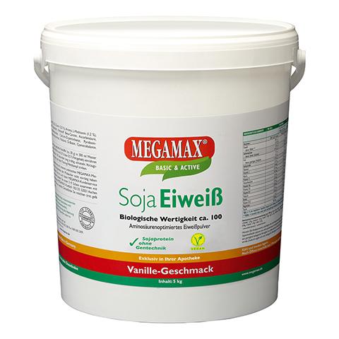 Megamax Soja Eiweiß Vanille Pulver 5 Kilogramm
