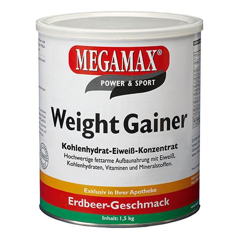 WEIGHT GAINER Megamax Erdbeere Pulver 1500 Gramm