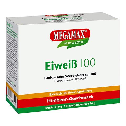 EIWEISS 100 Himbeer Megamax Pulver 7x30 Gramm