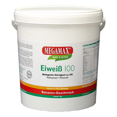 EIWEISS 100 Banane Megamax Pulver 5000 Gramm