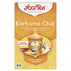 YOGI TEA Kurkuma Chai Bio Filterbeutel 17x2 Gramm - Vorderseite