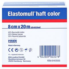 ELASTOMULL haft color 8 cmx20 m Fixierb.blau 1 Stück - Rückseite