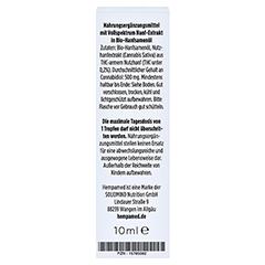 HEMPAMED Premium CBD 5% Tropfen 10 Milliliter - Rückseite