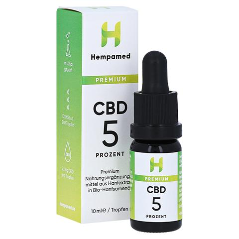 HEMPAMED Premium CBD 5% Tropfen 10 Milliliter