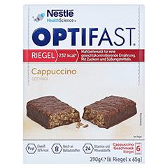 OPTIFAST Riegel Cappuccino 6x65 Gramm - Vorderseite