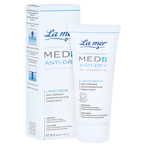LA MER MED+ Anti-Dry Lipidcreme o.Parfum 50 Milliliter