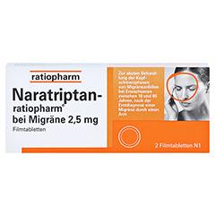 Naratriptan-ratiopharm bei Migräne 2,5mg 2 Stück N1 - Vorderseite