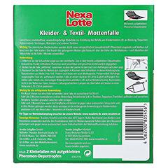 NEXA LOTTE Kleider- & Textil-Mottenfalle 2 Stück - Rückseite