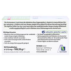 L-LYSIN 750 mg Tabletten 90 Stück - Oberseite