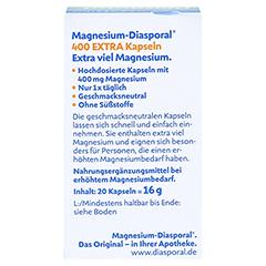 MAGNESIUM DIASPORAL 400 Extra Kapseln 20 Stück - Rückseite