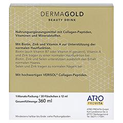 ATRO DermaGold Beauty Drink 30x12 Milliliter - Rückseite