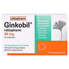 GINKOBIL ratiopharm 80mg 60 Stück N2 - Vorderseite