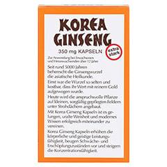 Korea Ginseng extra stark 80 Stück - Rückseite