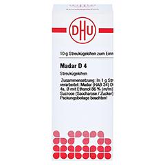 MADAR D 4 Globuli 10 Gramm N1 - Vorderseite
