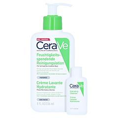 Cerave Feuchtigkeitsspendende Reinigungslotion + gratis Cerave Feuchtigkeitsspendende Reinigungslotion 20 ml 236 Milliliter