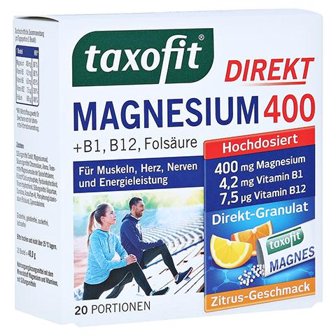 TAXOFIT Magnesium 400+B1+B6+B12+Folsäure 800 Gran. 20 Stück