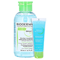 BIODERMA Sebium H2O Reinigungslösung Pump + gratis Sebium Gel Moussant 45 ml 500 Milliliter