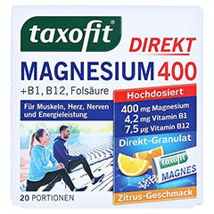 TAXOFIT Magnesium 400+B1+B6+B12+Folsäure 800 Gran. 20 Stück - Vorderseite