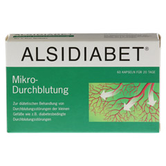 ALSIDIABET Diabetiker Mikro Durchblutung Kapseln 60 Stück - Vorderseite
