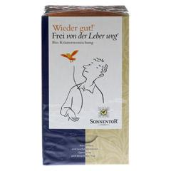 """Sonnentor """"Wieder Gut! Frei von der Leber weg"""" Tee 18 Stück - Vorderseite"""