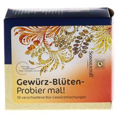 Sonnentor Gewürz-Blüten-Probier mal! 10 Stück - Vorderseite
