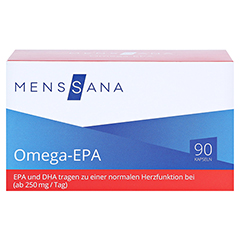 OMEGA EPA MensSana Kapseln 90 Stück - Vorderseite
