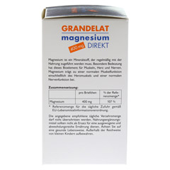 MAGNESIUM DIREKT 400 mg Grandelat Pulver 40 Stück - Linke Seite