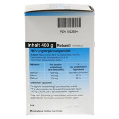 REBASIT Mineral Pulver 400 Gramm - Rechte Seite