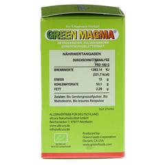 GREEN MAGMA Gerstengrasextrakt Tabletten 320 Stück - Rechte Seite