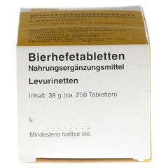 BIERHEFE TABLETTEN Levurinetten 250 Stück - Oberseite