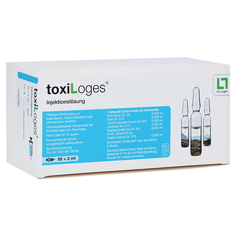 TOXI LOGES Injektionsl�sung Ampullen 50x2 Milliliter N2