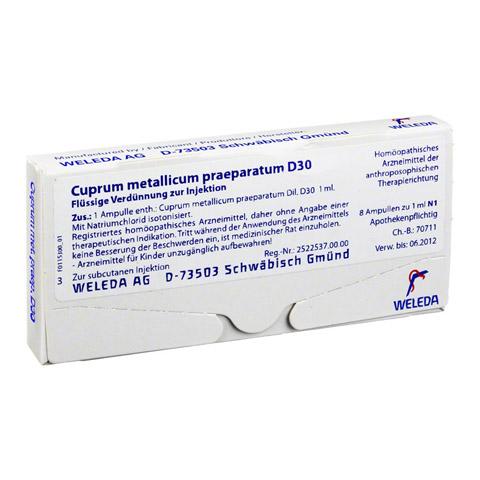 CUPRUM METALLICUM praep.D 30 Ampullen 8x1 Milliliter N1