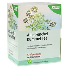 ANIS FENCHEL Kümmel Tee AFeKü Bio Salus Filterbtl. 40 Stück