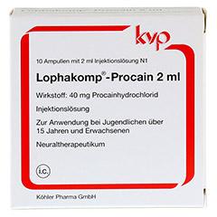 LOPHAKOMP Procain 2 ml Injektionslösung 10x2 Milliliter N1 - Vorderseite