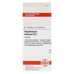 STRYCHNINUM NITRICUM D 6 Tabletten 80 Stück N1 - Vorderseite