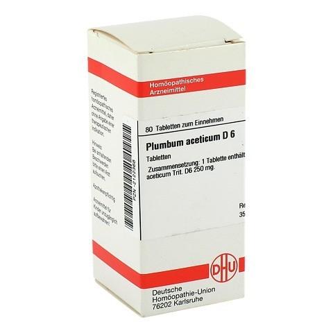 PLUMBUM ACETICUM D 6 Tabletten 80 Stück N1