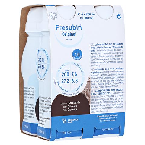 FRESUBIN ORIGINAL DRINK Schokolade Trinkflasche 4x200 Milliliter