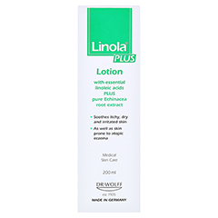 LINOLA plus Hautmilch 200 Milliliter - Rückseite